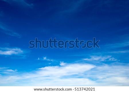 blue sky with cloud  - Shutterstock ID 513742021
