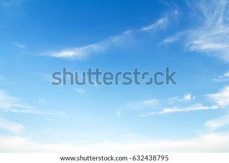 blue sky with cloud - Shutterstock ID 632438795