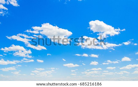 Blue sky with cloud - Shutterstock ID 685216186