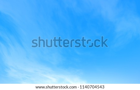 Blue sky with cloud background. #1140704543