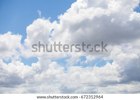 Blue sky with cloud background. - Shutterstock ID 672312964