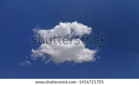 Blue sky with cloud, Bright clouds and clear skies on a clear day.