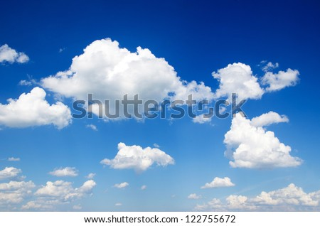 blue sky with cloud closeup #122755672