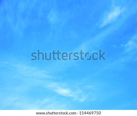 blue sky with cloud closeup - Shutterstock ID 154469750