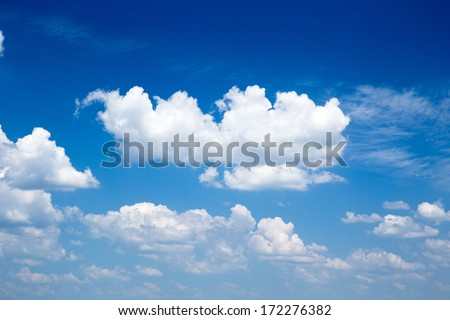 blue sky with cloud closeup - Shutterstock ID 172276382