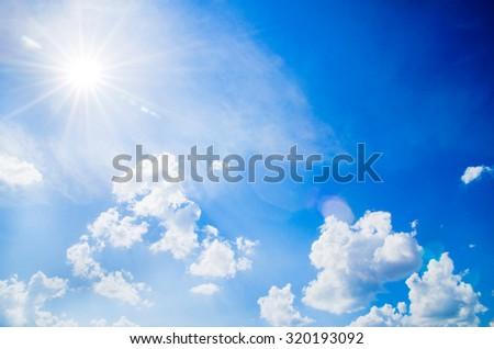 blue sky with cloud closeup #320193092