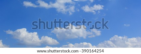 blue sky with cloud closeup - Shutterstock ID 390164254