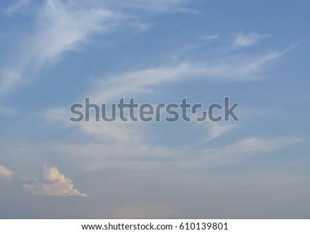 blue sky with cloud closeup #610139801