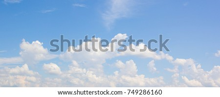blue sky with cloud closeup - Shutterstock ID 749286160