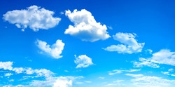 blue sky with cloud in bright morning.