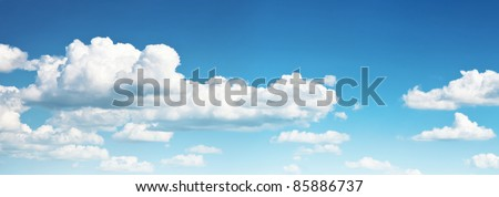 blue sky with cloud, sky background #85886737