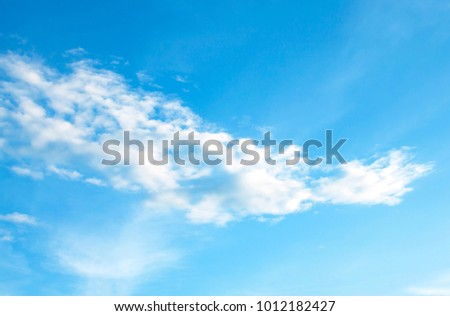 Blue sky with clouds - Shutterstock ID 1012182427