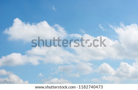 blue sky with clouds #1182740473