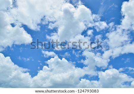 Blue sky with clouds #124793083