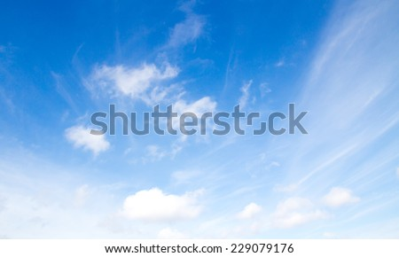 Blue sky with clouds #229079176