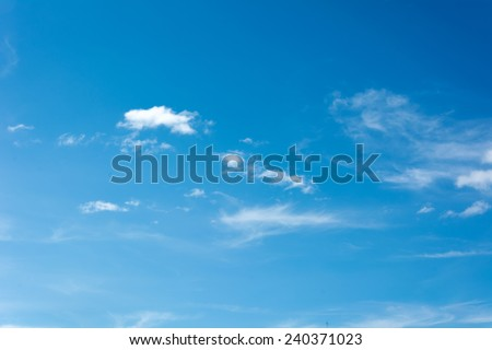 blue sky with clouds #240371023