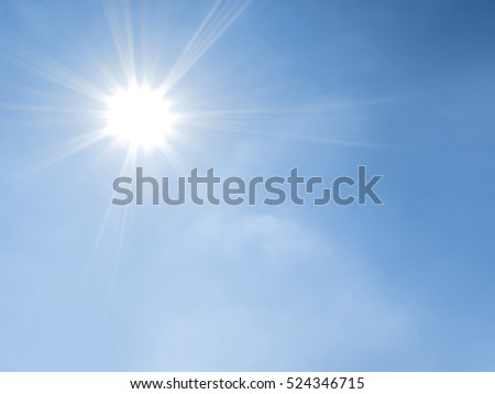 Blue sky with clouds and sun - Shutterstock ID 524346715
