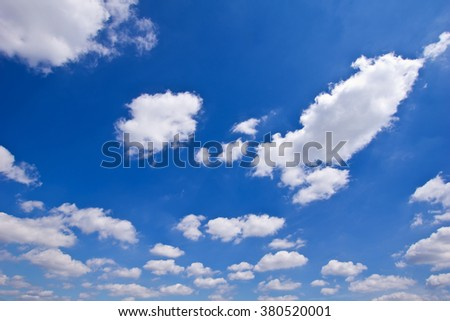 Blue sky with clouds background #380520001