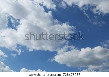 Blue sky with clouds background, blue sky with clouds #728675257