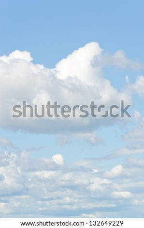 blue sky with clouds background vertical