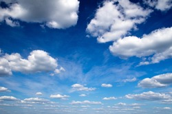 blue sky with clouds closeup