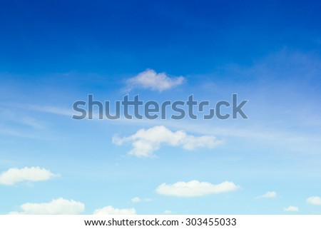 blue sky with clouds closeup - Shutterstock ID 303455033