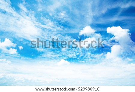 Photo of  blue sky with clouds closeup