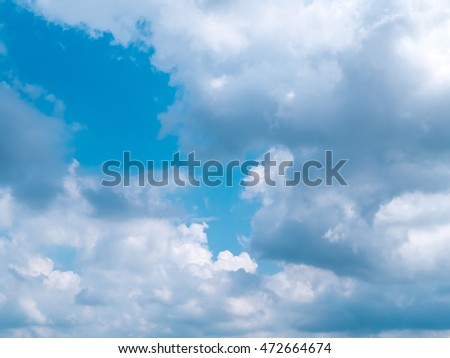 blue sky with clouds closeup, high definition skyscraper with clouds, - Shutterstock ID 472664674