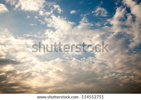 Blue sky with clouds for adv or background use
