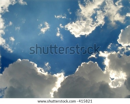 Blue sky with clouds. (For more artistic photos, please visit my gallery!Thank you!)