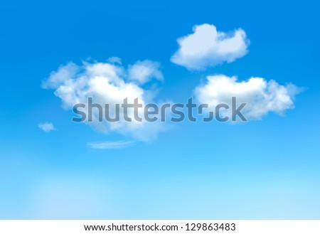 blue sky with clouds raster