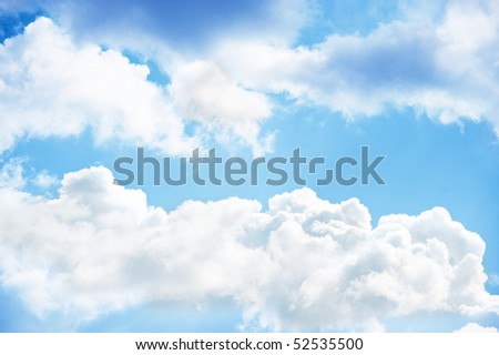 blue sky with clouds. wonderful nature background