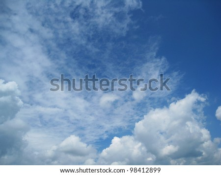 blue sky with interesting cloudscape 30