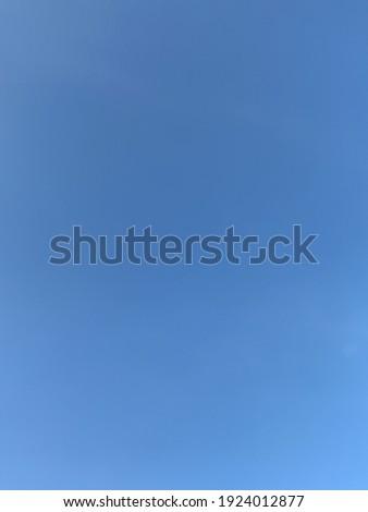 Blue sky with negatif space . It is selective focus  Stok fotoğraf ©