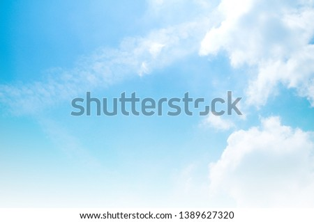 blue sky with white cloud #1389627320