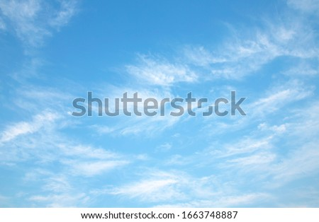 blue sky with white cloud beautiful