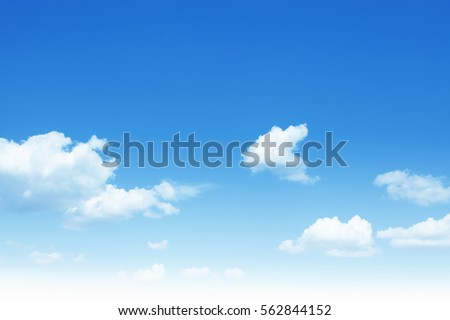 Shutterstock Blue sky with white clouds.