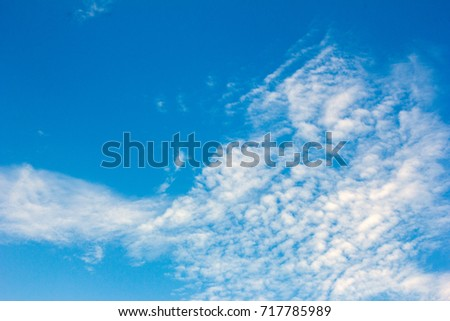 Blue sky with white clouds #717785989