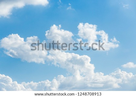 Blue sky with white clouds background #1248708913