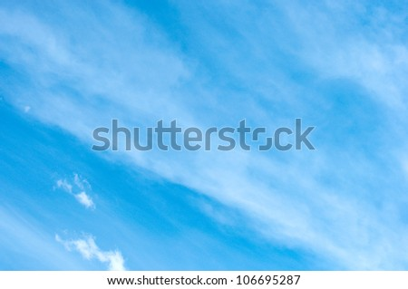 blue sky with white clouds. can be used as background - stock photo