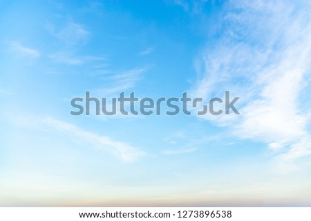 Blue sky with white clouds during the afternoon. #1273896538