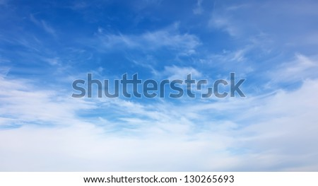 blue sky with white clouds general form
