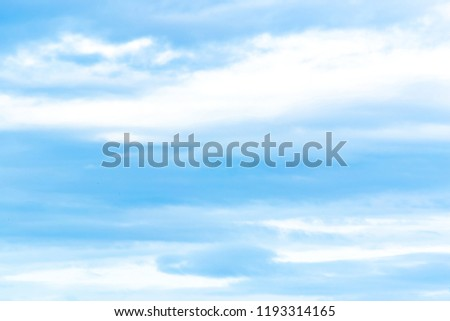 Blue sky with white clouds in various seasons. #1193314165