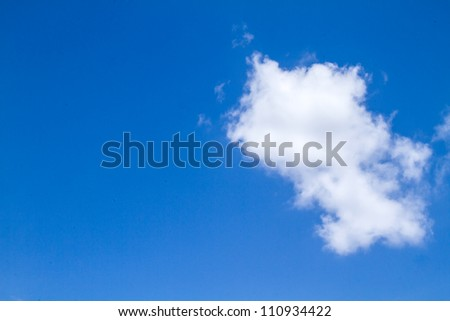 blue sky with white could and sun