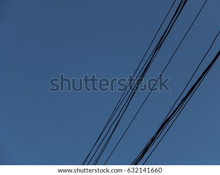 blue sky with wires #632141660