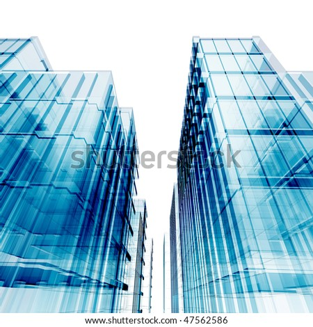 Blue skyscrapers. My personal concept architectural project #47562586