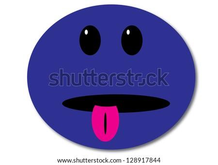 Blue Smiley Face Logo Extravagant Blue Smiley Face