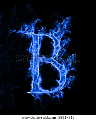 free blue fire letter b. photos | avopix
