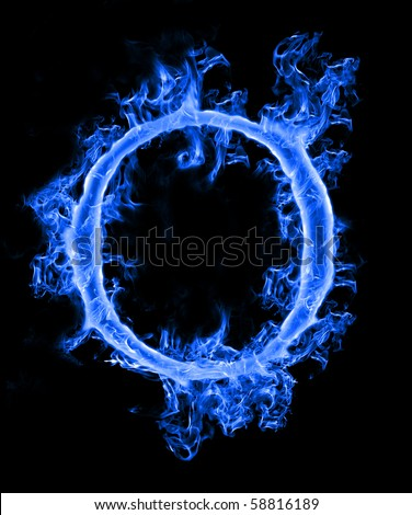 "Blue Smoke Letter ""O"" Stock Photo 58816189 : Shutterstock"