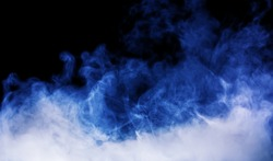 blue smoke on the black background